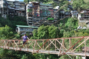 Banaue, Hängebrücke aus Blech, Philippinen