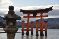 Japan, Miyajima, floating Torii