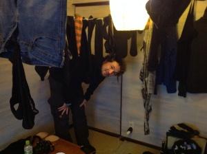 Japan, Kobe, Wäsche im Zimmer