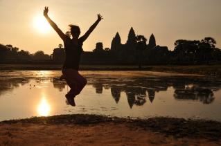 Cambodia, Angkor Wat, Sonnenaufgang