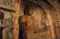 China, Datong, Jungang Höhlen